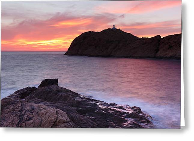 Islands In The Sea, La Pietra, Genoese Greeting Card by Panoramic Images