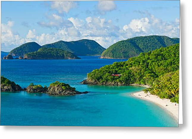 Islands In The Sea, Trunk Bay, St Greeting Card by Panoramic Images