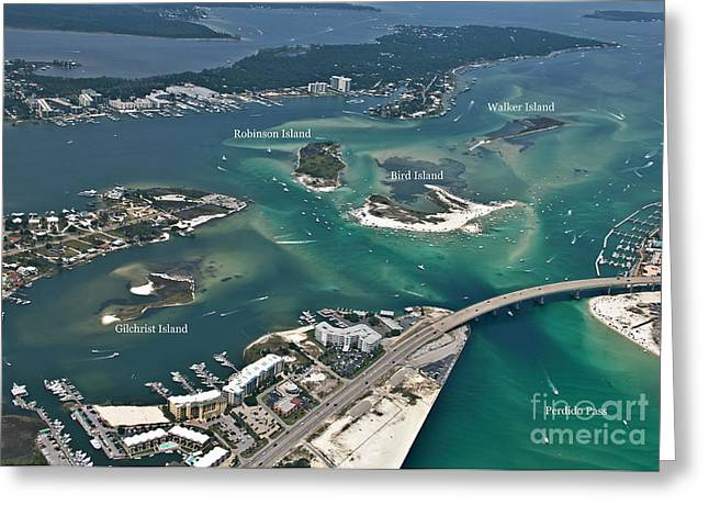 Islands Of Perdido - Labeled Greeting Card