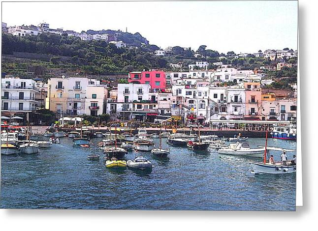 Isle Of Capri Greeting Card by Ze  Di