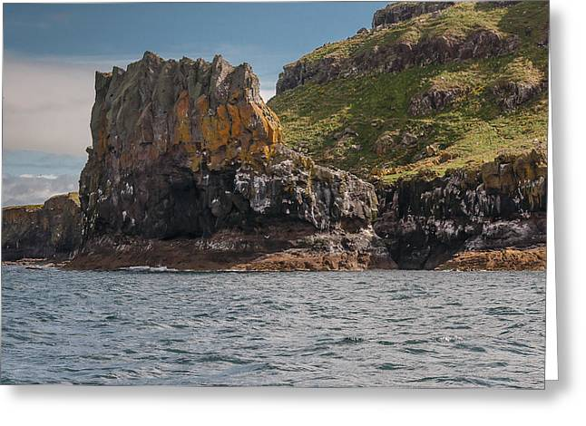 Greeting Card featuring the photograph Isle Of Lunga by Sergey Simanovsky