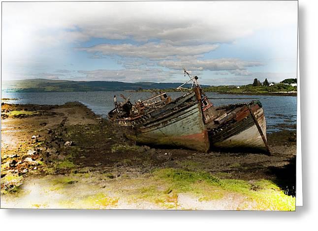Isle Of Mull Boats Greeting Card