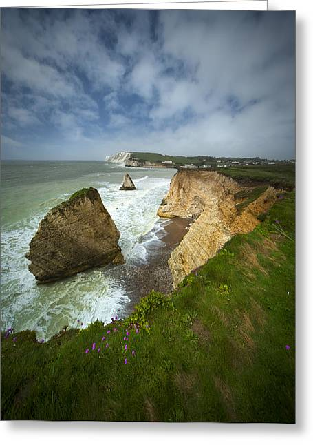 Isle Of Wight Seascape Greeting Card