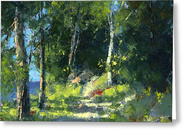 Isle Royale A Trail Near The Lake Greeting Card by Tom Nelson