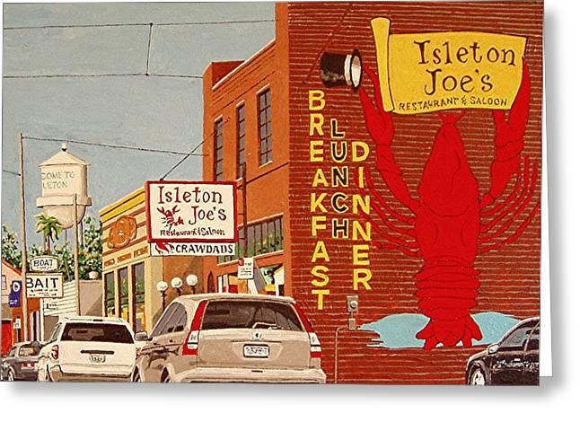 Isleton Joe's Greeting Card by Paul Guyer