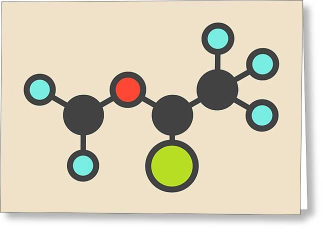 Isoflurane Anesthetic Drug Molecule Greeting Card
