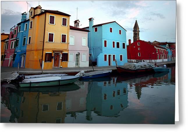 Isola Di Burano Greeting Card by Alexander Kuzmin