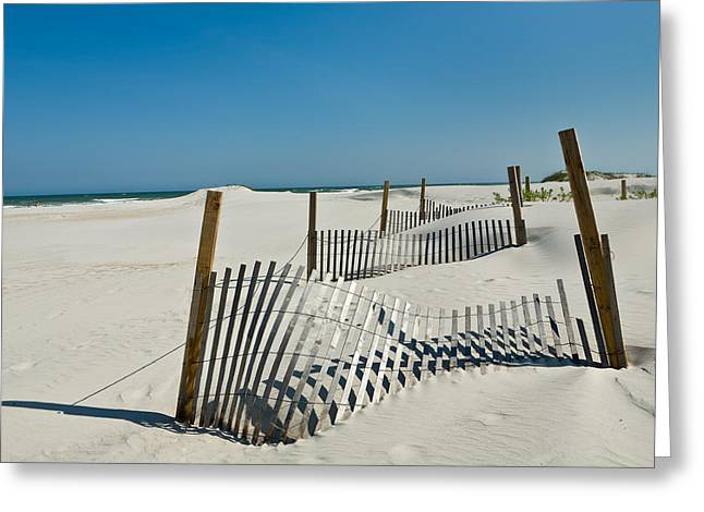 Isolated Dunes Greeting Card