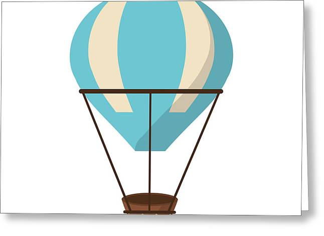 Isolated Hot Air Balloon Design Greeting Card