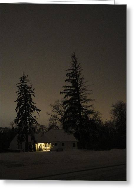 Isolated House Greeting Card by Guy Ricketts