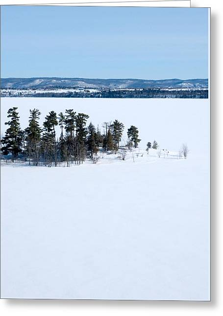 Isolation Pinheys Point In Winter Ottawa River Greeting Card by Rob Huntley