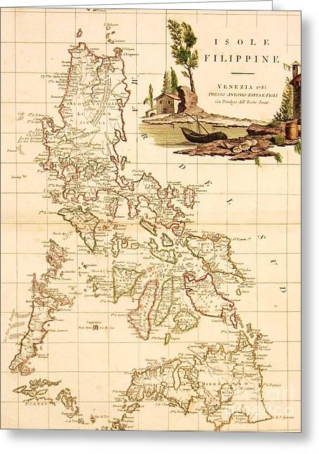 Isole  Filippine Greeting Card by Pg Reproductions