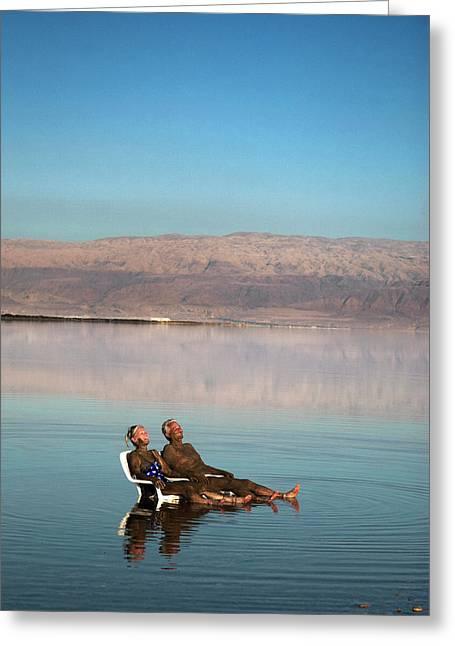 Israel, Dead Sea Greeting Card by David Noyes