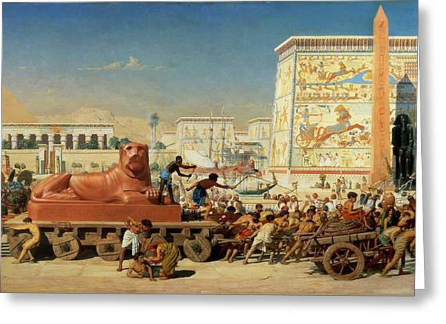 Israel In Egypt, 1867 Greeting Card by Sir Edward John Poynter