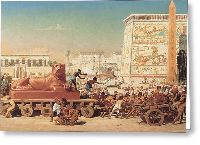 Israel In Egypt Greeting Card by Edward John Poynter