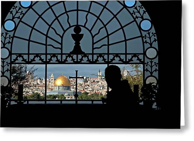 Israel, Jerusalem Greeting Card by David Noyes