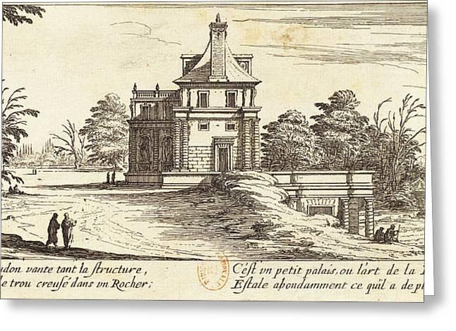Israël Silvestre French, 1621 - 1691, Le Grotte De Meudon Greeting Card