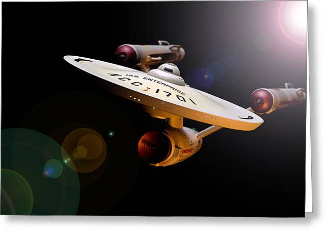 Iss Enterprise  Greeting Card by Paul Whitmarsh
