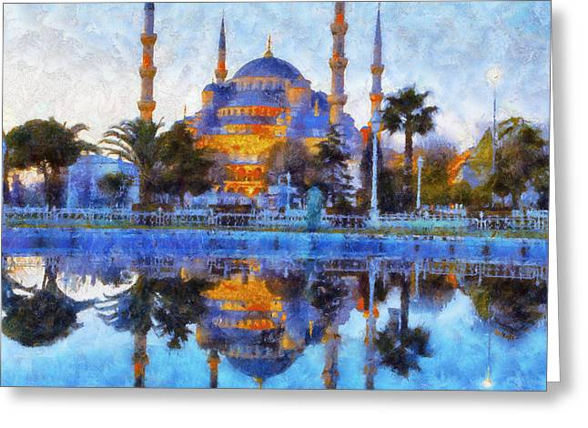 Istanbul Blue Mosque  Greeting Card