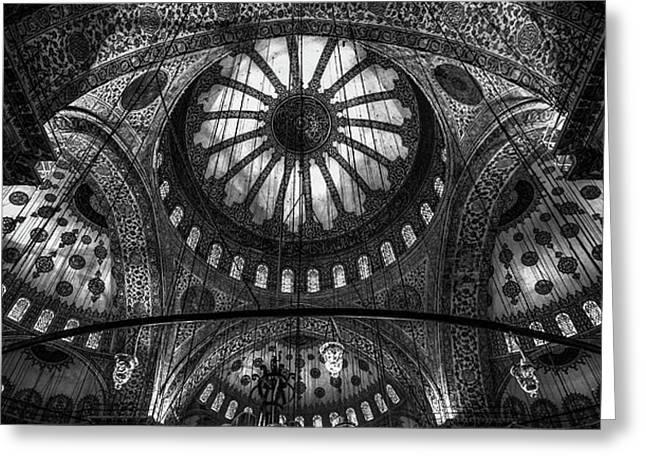 Istanbul - Blue Mosque Greeting Card by Michael Jurek