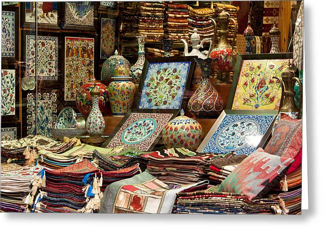 Istanbul Grand Bazaar 07 Greeting Card by Rick Piper Photography