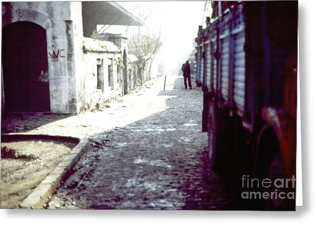 Istanbul Man In The Distance Greeting Card by Scott Shaw