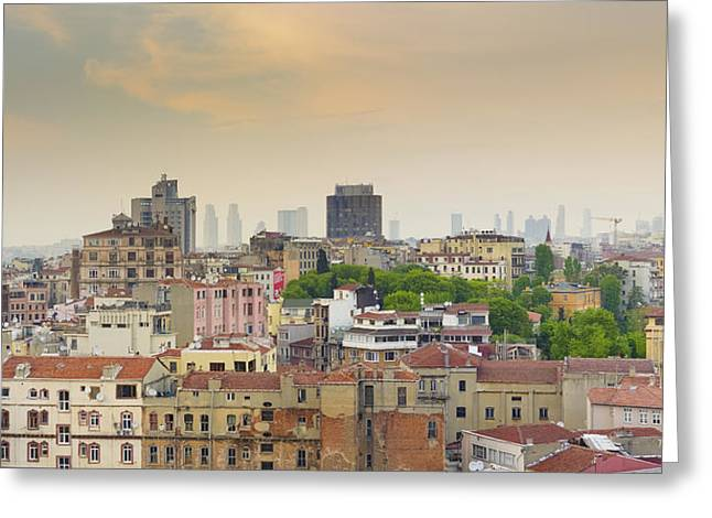 Istanbul Skyline Greeting Card by Hans Engbers
