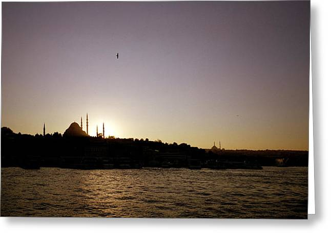 Istanbul Sunset Greeting Card by Shaun Higson