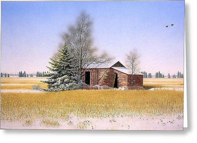 It Is Sunday Greeting Card by Conrad Mieschke