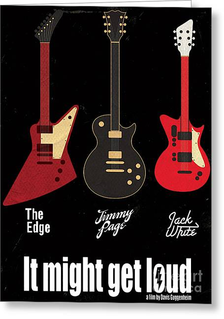 It Might Get Loud On Behance Greeting Card