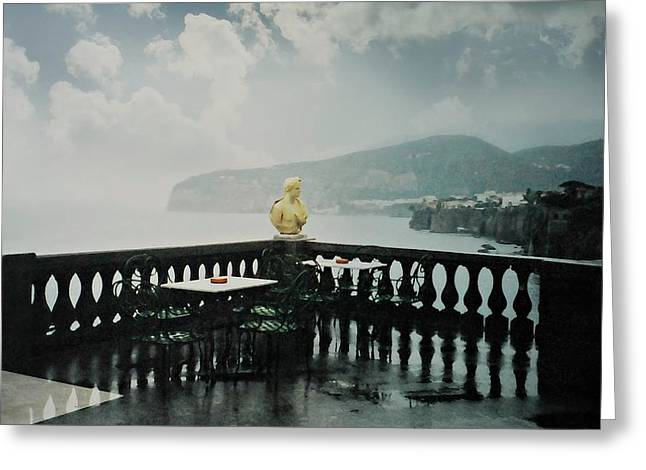 It Rains In Sorrento Greeting Card