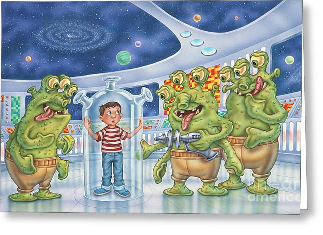 It Really Happened Greeting Card by Phil Wilson