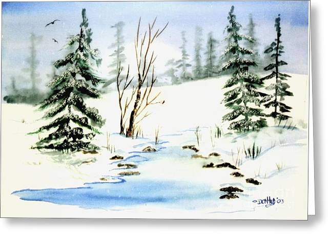 It Snowed Greeting Card by Don Hand