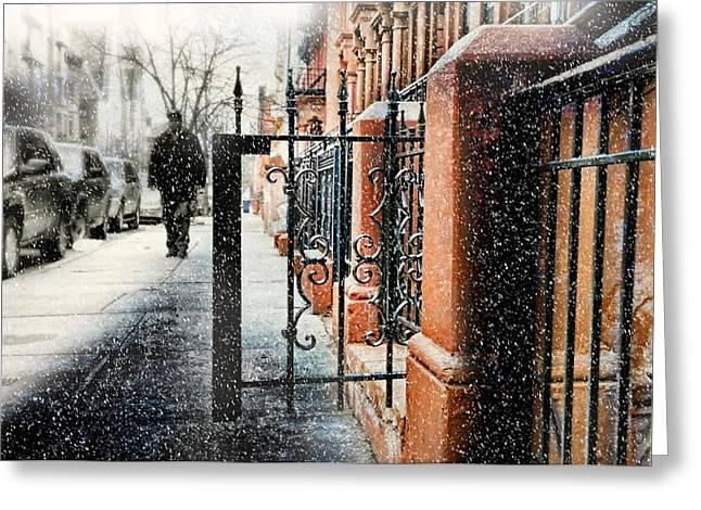 It Snows In Harlem Greeting Card