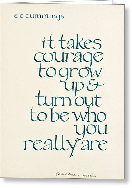 It Takes Courage Greeting Card