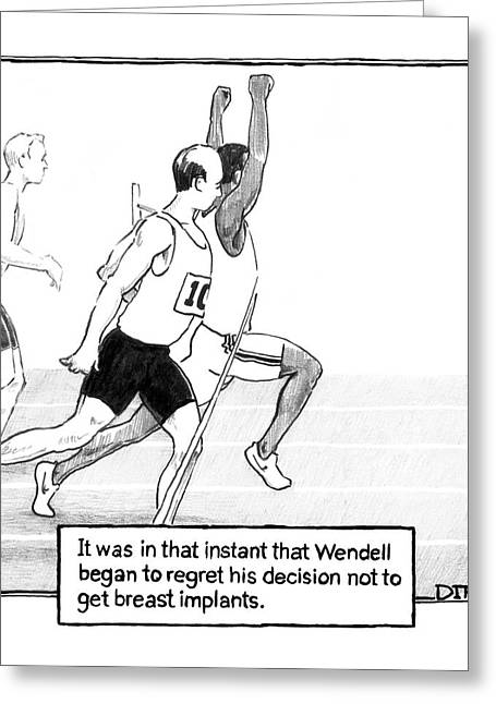 It Was In That Instant That Wendell Began Greeting Card by Matthew Diffee