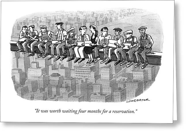 It Was Worth Waiting Four Months Greeting Card by Joe Dator