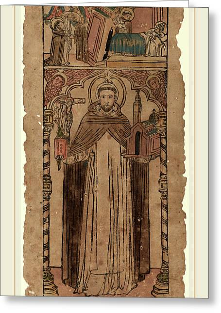 Italian 15th Century, Saint Dominic Greeting Card