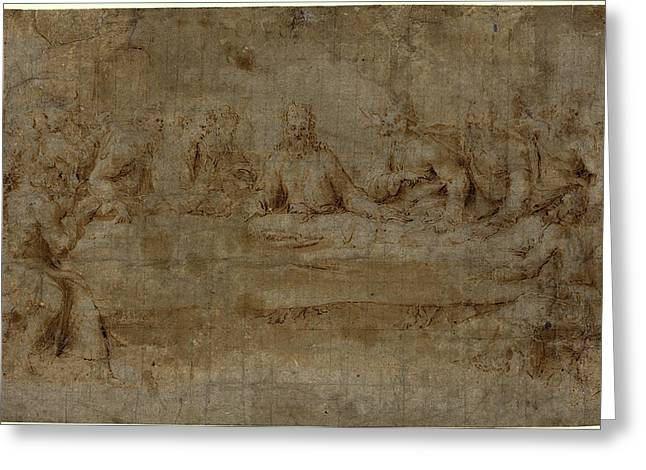 Italian 16th Century, The Last Supper, Mid 16th Century Greeting Card by Litz Collection