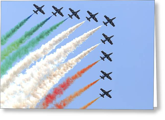 Italian Air Force Aerobatic Team Frecce Greeting Card