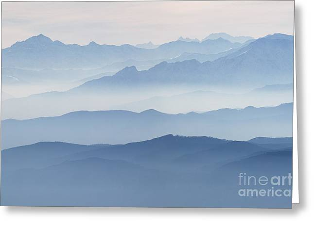 Italian Alps In The Mist Greeting Card
