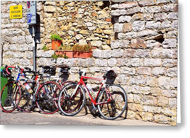 Italian Bikes Greeting Card by Ramona Matei