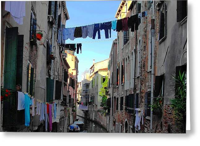 Italian Clotheslines Greeting Card