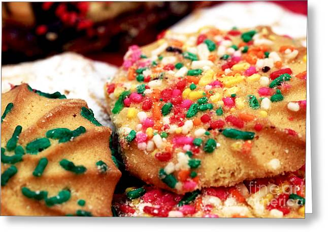 Italian Cookies Greeting Card by John Rizzuto