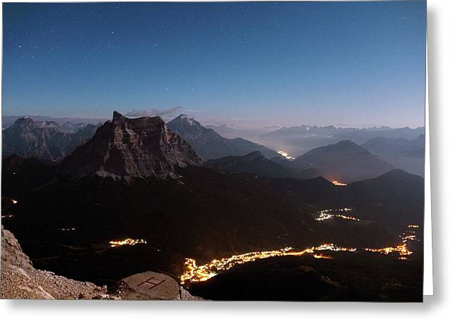 Italian Dolomites Greeting Card by Martin Rietze