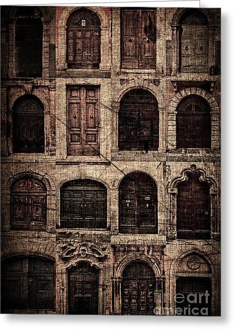 Italian Doors. Greeting Card by Juan Nel