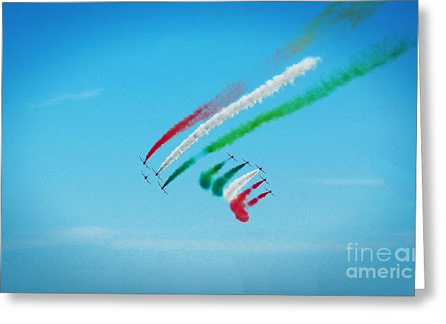 Italian Frecce Tricolori Aerobatics Team Greeting Card