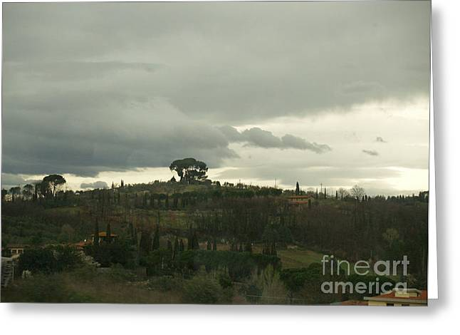 Greeting Card featuring the photograph Italian Hillside by Robin Maria Pedrero