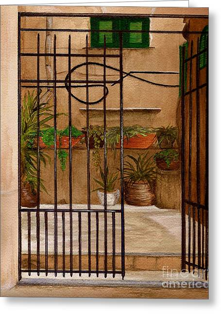 Italian Iron Gate Greeting Card