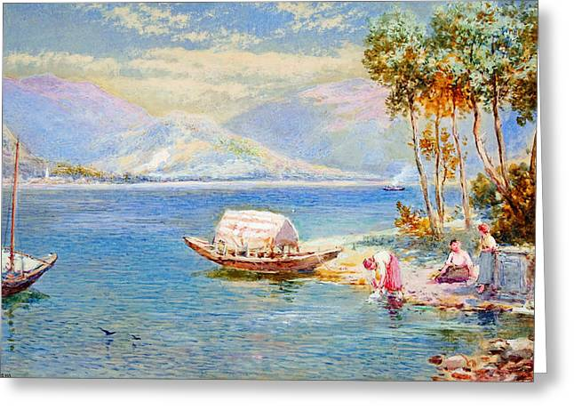 Italian Lake Greeting Card by Celestial Images